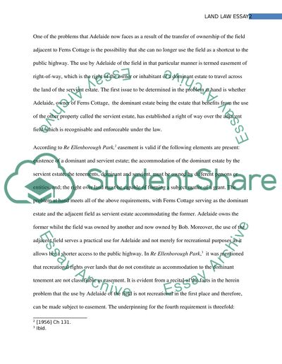 Land Lawproblem Essay Example  Topics And Well Written Essays  Land Lawproblem Essay