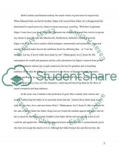 edmund king lear essay Free essay examples, how to write essay on king lear power corrupts example essay, research paper, custom writing write my essay on power lear father.