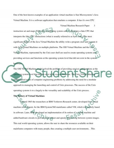 Virtual Machine essay example