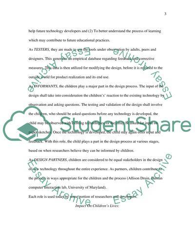Interactive Educational Tools Design for Children