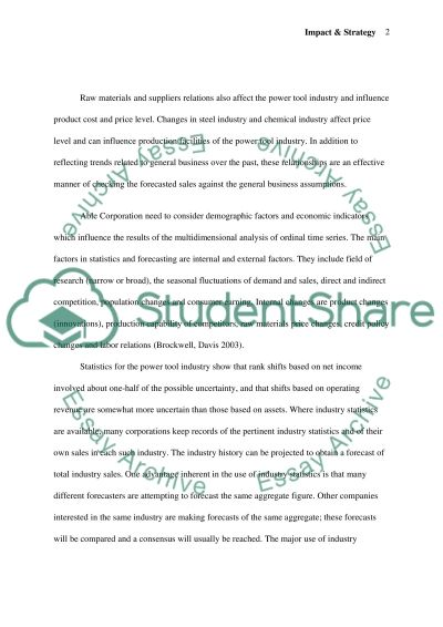 Impact & Strategy essay example