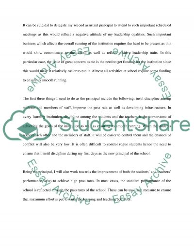 No topic based on scenario and questions to be incorporated essay example