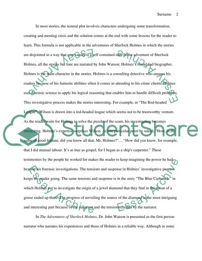 What Is The Thesis Of An Essay The Adventures Of Sherlock Holmes Example Of Proposal Essay also Thesis Statement For Analytical Essay The Adventures Of Sherlock Holmes Essay Example  Topics And Well  Writing Essay Papers