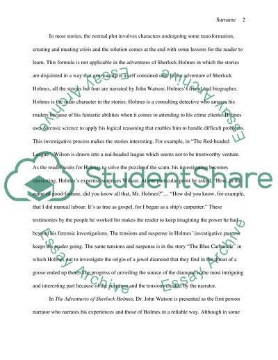 The Adventures Of Sherlock Holmes Essay Example  Topics And Well  The Adventures Of Sherlock Holmes