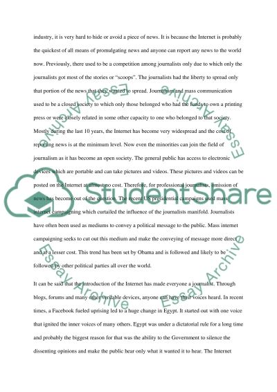 Has the quality of global news improved over the past 20 years essay example