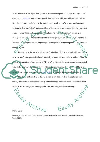 Essay For Health Explication Essay On Shakespeares Sonnet  The Time Of Year Thou Mayest In  Me Good High School Essays also How To Start A Synthesis Essay Explication Essay On Shakespeares Sonnet  The Time Of Year Thou Essay Samples For High School