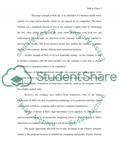 Dell in China Essay example