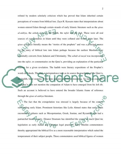 Gender and Islam essay example