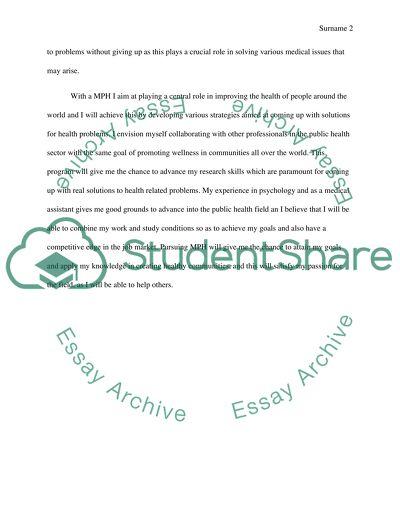 Motivation essay/letter for masters degree in public health amiri baraka essays