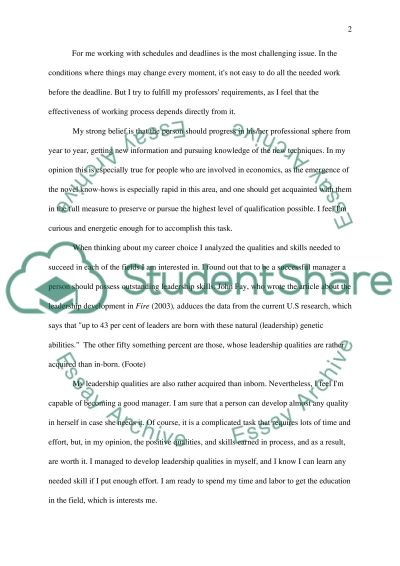 Personal Statement for Postgraduate Study Applications essay example