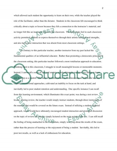 Portrait of a Teacher essay example