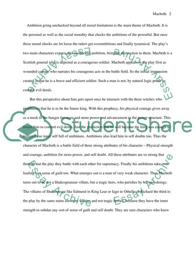 Easy Essay Topics For High School Students Macbeth Essay Thesis For Compare And Contrast Essay also Example Of A Proposal Essay Macbeth Essay Example  Topics And Well Written Essays   Words What Is A Thesis Statement In An Essay