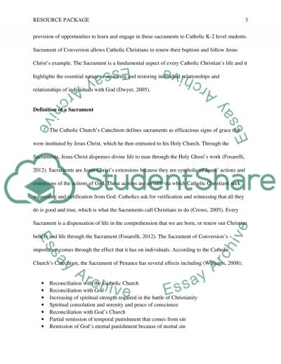 Religious Education Resource Package essay example