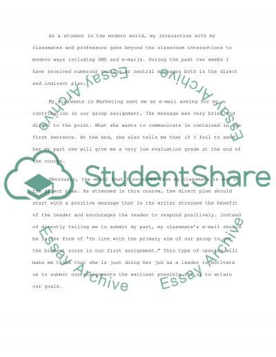 Comunication essay example