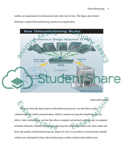 Teleconferencing essay example