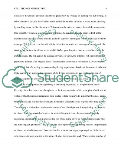 Argumentative essay cell phone use while driving