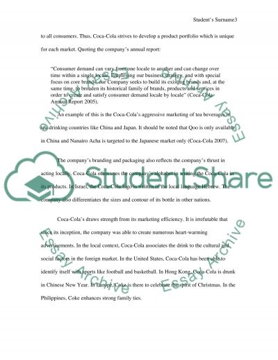 Of Thinking Globally and Acting Locally essay example