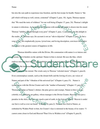Henry David Thoreau Walden Essay Example  Topics And Well Written  Henry David Thoreau Walden