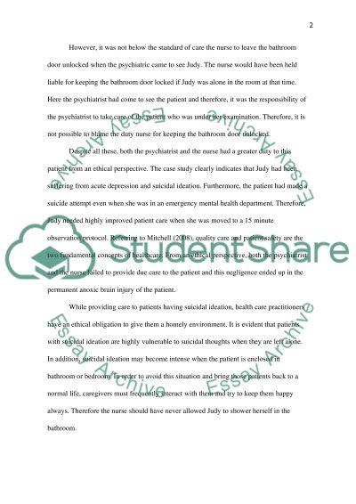 Judy Case Study essay example