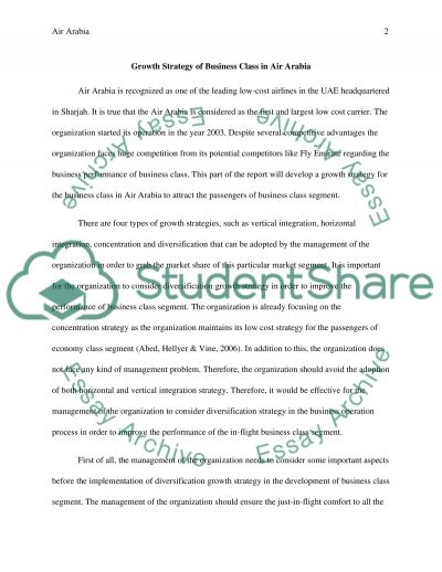 Air Arabia essay example