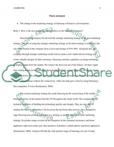 Samsung essay example