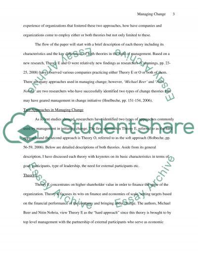 Managing Change essay example
