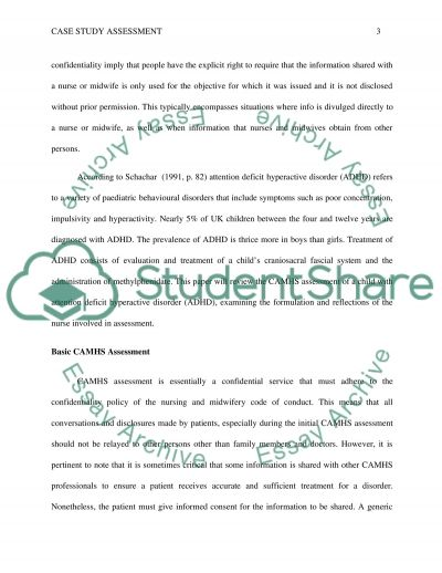 Assessment of a child with attention defecit hyperactive disorder (ADHD) essay example