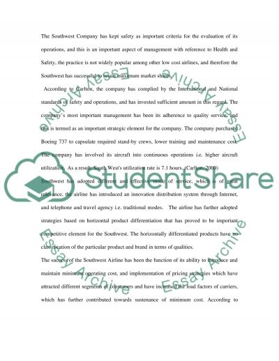 Low Cost Airlines Case Study essay example