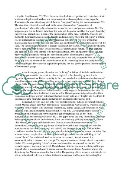 Analytical/integrative essay