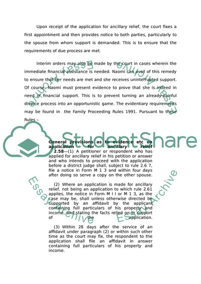 Family Law Degree Essay