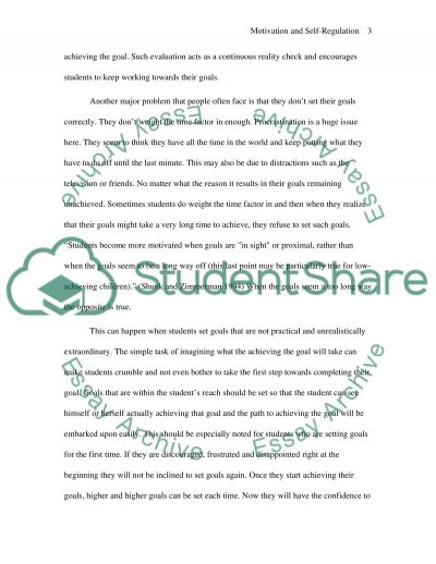Motivation and Self Regulation in Learning essay example