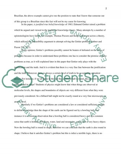 the gettier problem essay example topics and well written essays  the gettier problem essay example