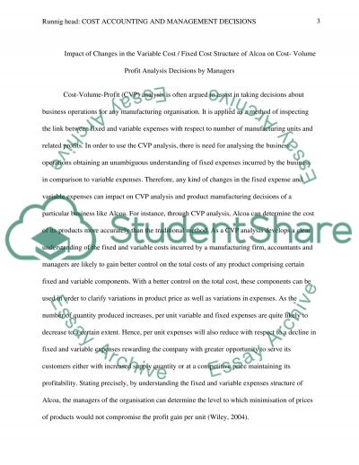 Cost Accounting and Management Decisions essay example