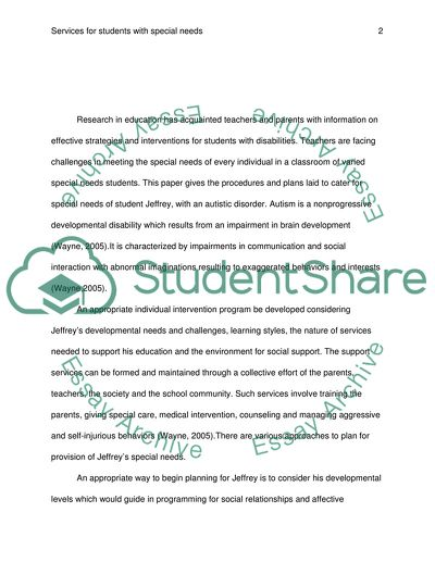 Channeling Students into Special Services
