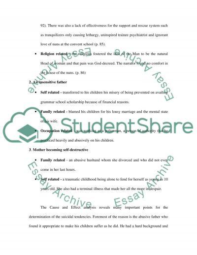Suicidal Behavior essay example