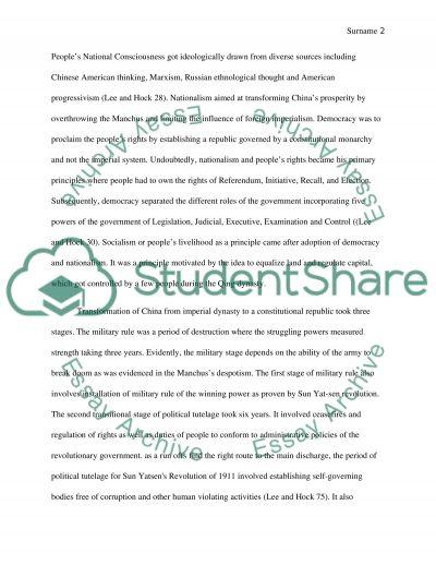 Sun Yatsens Revolution of 1911 essay example
