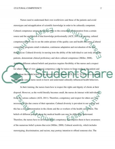 Cultural Competency and Diversity Essay example