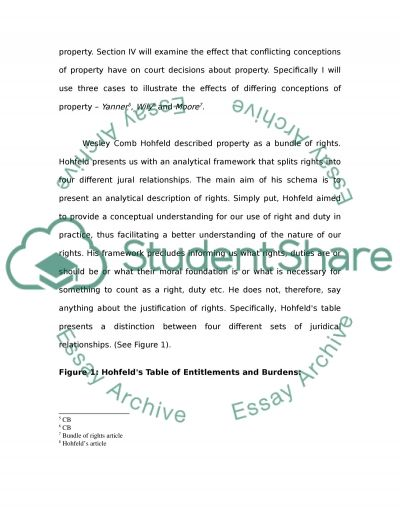 The Concept of Property essay example