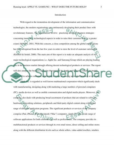 Apple vs. Samsung What does the future hold essay example