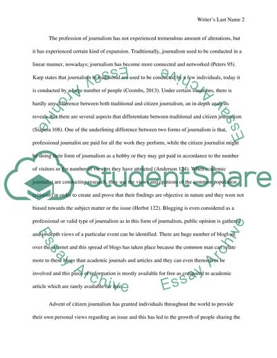 George Washington Essay Paper Are Citizen Journalists And Bloggers Real Journalists What Does It Mean To  Be A Real Journalist College Essay Paper also Research Essay Proposal Example Are Citizen Journalists And Bloggers Real Journalists What Does It Essay Politics And The English Language Essay