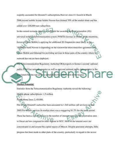 Oman Telecommunication Company essay example
