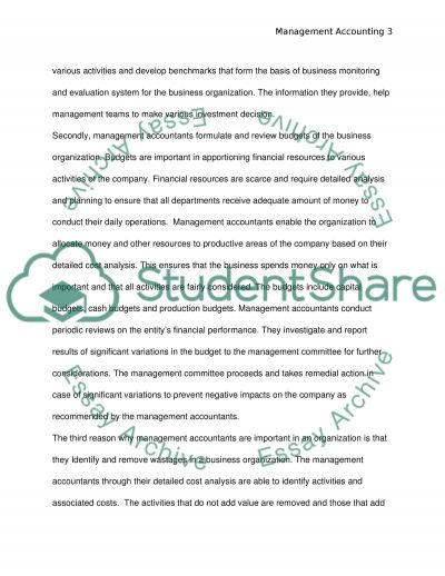 Stratgic Management Accounting (case study) essay example