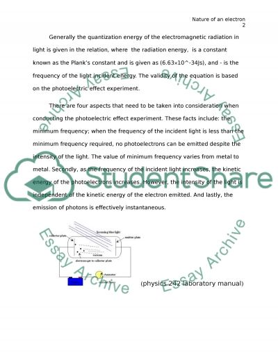Nature of an electron                                                                                                                                                  Coursework example