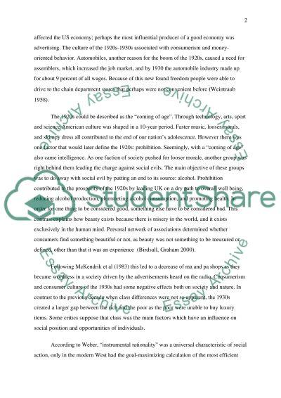 Consumer Society essay example