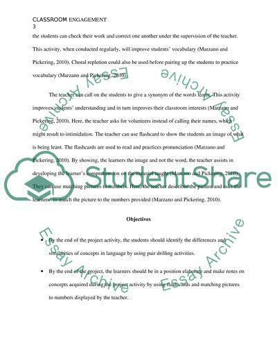 Classroom engagement