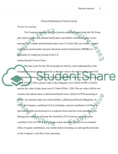 Financial Accounting Analysis of Pearson Group essay example