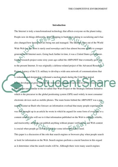 The Competitive Environment essay example