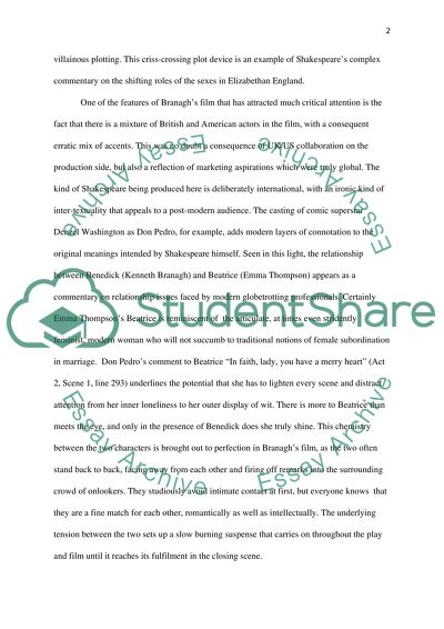 much ado about nothing beatrice and benedick relationship essay