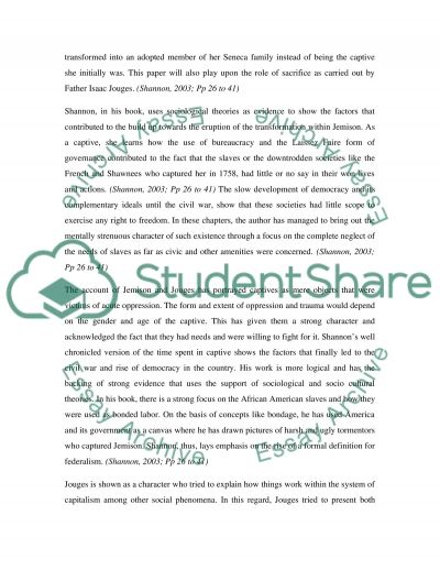Shannons America essay example