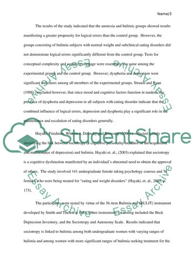 The Yellow Wallpaper Essay The Role Of Cognitive Factors In The Maintenance Of Bulimia How To Write A High School Application Essay also Cause And Effect Essay Topics For High School The Role Of Cognitive Factors In The Maintenance Of Bulimia Essay High School Essay Help